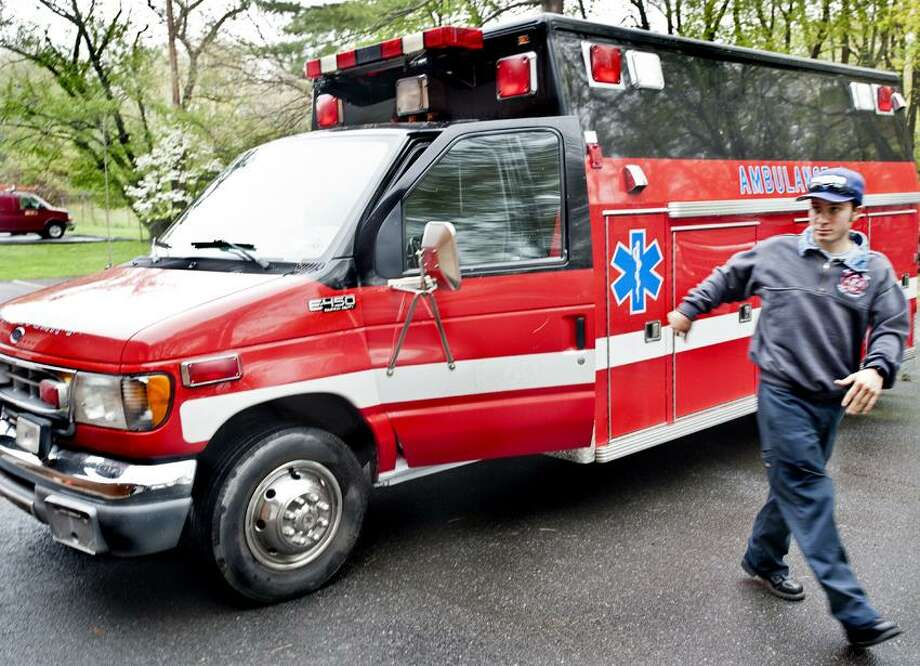 West Haven--Exterior of newly purchased ambulance at West Shore.   Melanie Stengel/Register