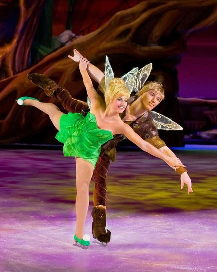 Feld Entertainment photo: Tinker Bell and Terence make an adorable Disney on Ice pair.
