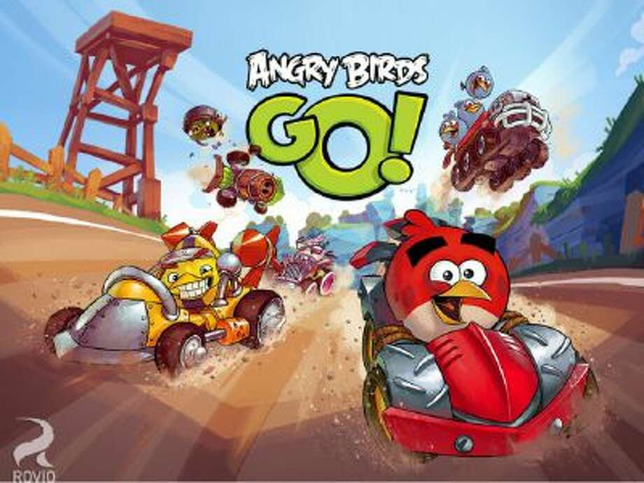Welcome to downhill piggy racing with Angry Birds Go! now available on Google Play and Apple markets.