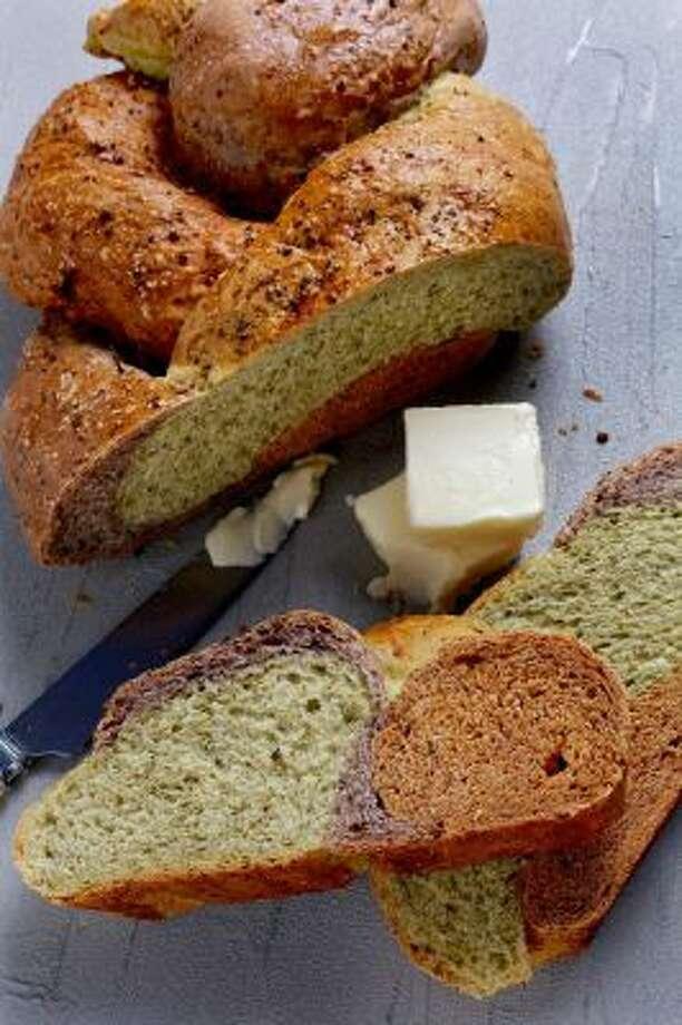 Tricolor Christmas Bread