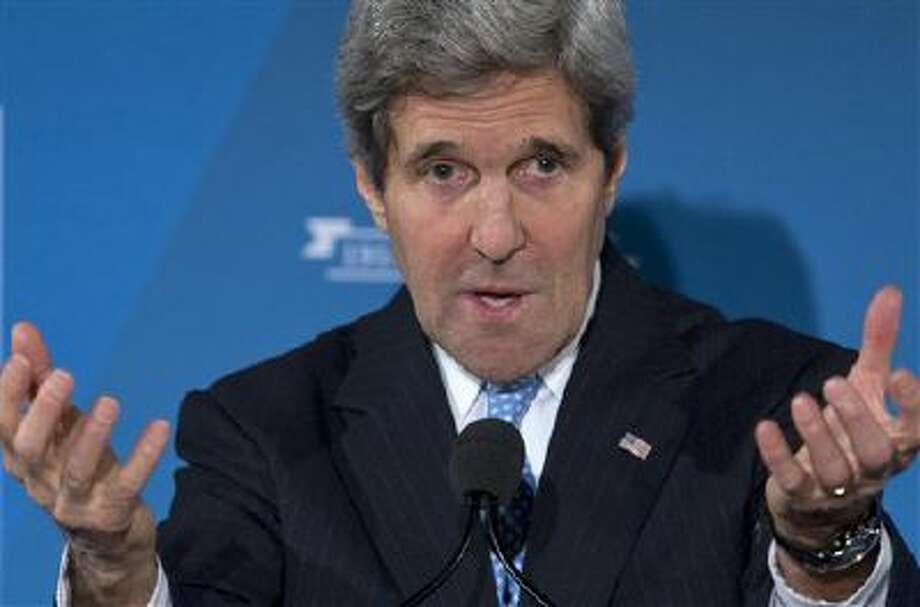 Secretary of State John Kerry will speak to Congress on Iran. Photo: AP / AP