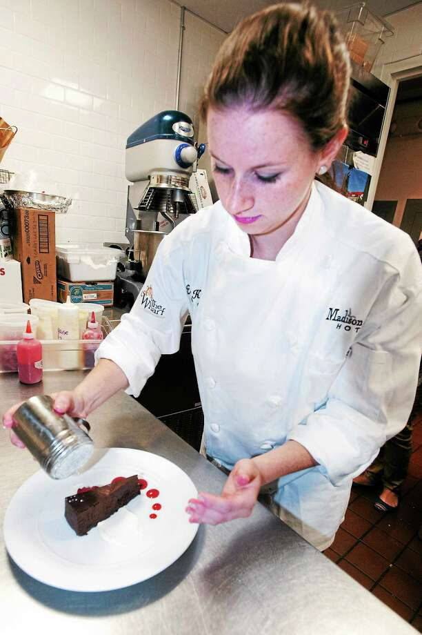 New Madison Beach Hotel pastry chef Erin Kelly is making a name for herself in town. Kelly is from Guilford and recently graduated summa cum laude from Johnson & Wales University. She has also trained at a restaurant in New Orleans owned by chef Emeril Legasse. Photo: VM Williams — Register