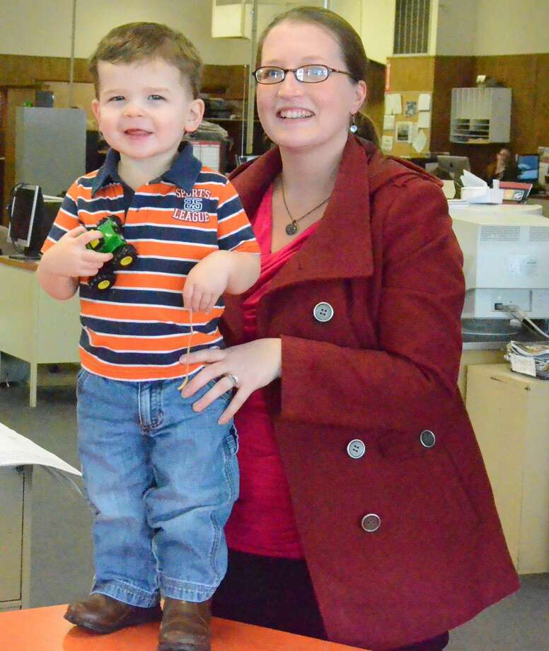 Kurt Wanfried/Oneida Daily Dispatch Skyler and his mother, Sarah Eschmann.