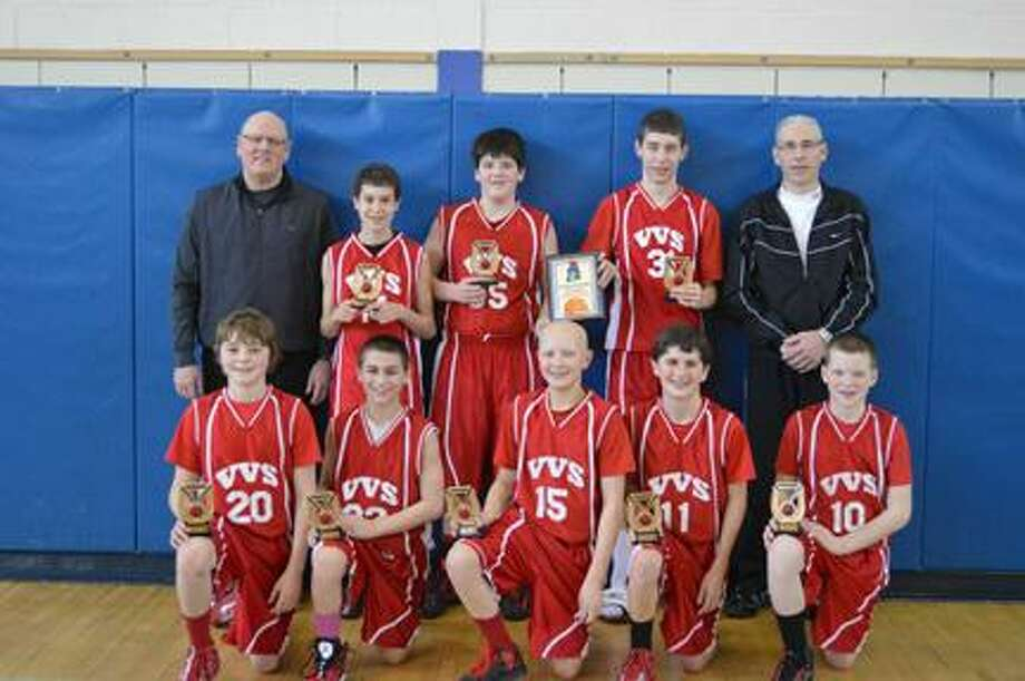 Submitted PhotoFront row, from left: Alec Musacchio, Nate Palmer, T.J. Horodnick, Nate Brewer, Zach NellSecond row, from left: Coach John Roden, Jake Engler, Dewey Roden, Jordan Schaefer, coach Randy Thomas