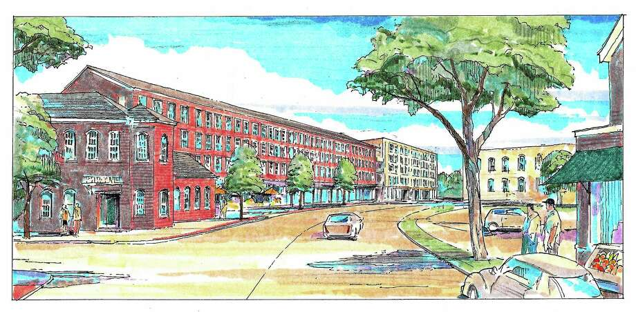 These are architect's images of the proposed renovation of the Star Supply  property, which is bound by State, Lawrence and Mechanic streets to 235 apartments. Photo: Journal Register Co.
