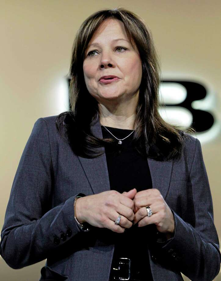 FILE - In this Jan. 10, 2012 file photo, Mary Barra, General Motors Senior Vice President, Global Product Development, speaks at the debut of the 2013 Buick Encore at the North American International Auto Show in Detroit. A person briefed on the matter on Tuesday, Dec. 10, 2013 said General Motors' board has named Barra as the company's next CEO. (AP Photo/Paul Sancya, File) Photo: AP / AP