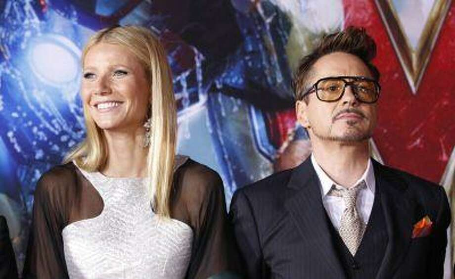 "Cast members Robert Downey Jr. and Gwyneth Paltrow pose at the premiere of ""Iron Man 3"" at El Capitan theatre in Hollywood, California April 24, 2013. The movie opens in the U.S. on May 3. REUTERS/Mario Anzuoni (UNITED STATES - Tags: ENTERTAINMENT) Photo: REUTERS / X90045"