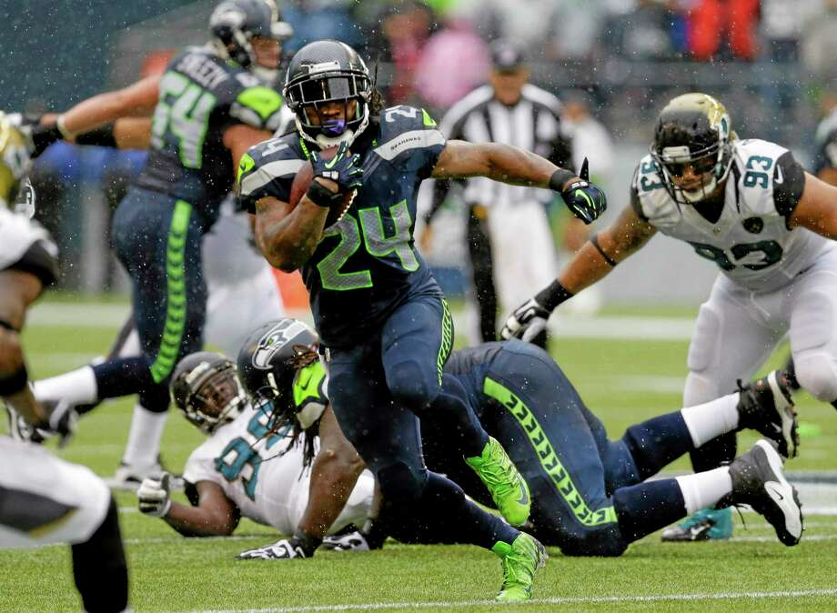 The Register's Dan Nowak likes Marshawn Lynch and the Seahawks to continue their recent success on the road this week against the Colts. Photo: Ted S. Warren — The Associated Press   / AP
