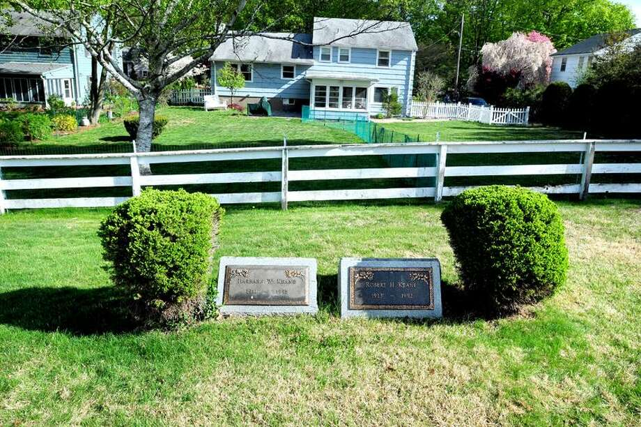 The graves of Barbara and Robert Keane at the Mount Carmel Burying Ground on Whitney Ave. in Hamden photographed on 5/7/2013.Photo by Arnold Gold/New Haven Register   AG0496