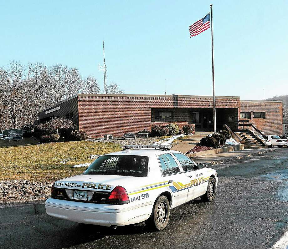 An East Haven police cruiser pulls into Police Headquarters in this file photo. Peter Casolino/New Haven Register Photo: Journal Register Co.
