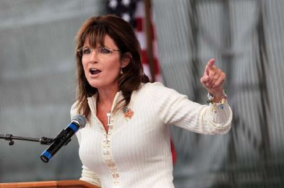 Sarah Palin speaks to supporters in Indianola, Iowa on September 3, 2011.