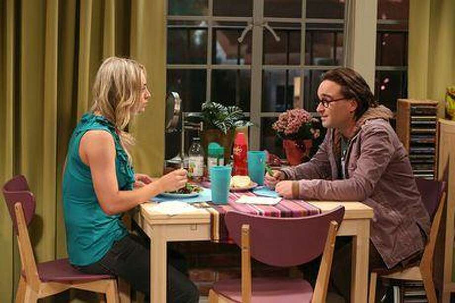 """The Bon Voyage Reaction"" -- A new success for Leonard (Johnny Galecki, right) makes Sheldon very jealous and throws Penny (Kaley Cuoco, left) for a loop, on the sixth season finale of THE BIG BANG THEORY, Thursday, May 16 (8:00 ÃɈ¢ÃLjÄÃLjì 8:31 PM, ET/PT) on the CBS Television Network. Photo: Robert Voets/Warner Bros. ÃɈÇÃLj&Copy;2013 Warner Bros. Television. All Rights Reserved. Photo: Cb / ÃÉÂÇÃÇ©2013 Warner Bros. Television. All Rights Reserved."