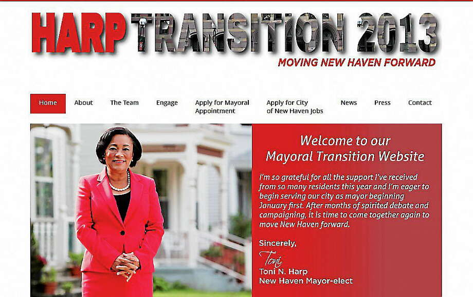 Screen shot of Harp Transition Team's 2013 website. Photo: Journal Register Co.