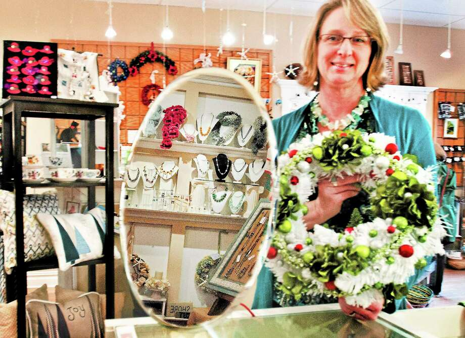 Peggy Russell, owner of the Connecticut Shoreline Arts Boutique. Photo: Melanie Stengel — New Haven Register