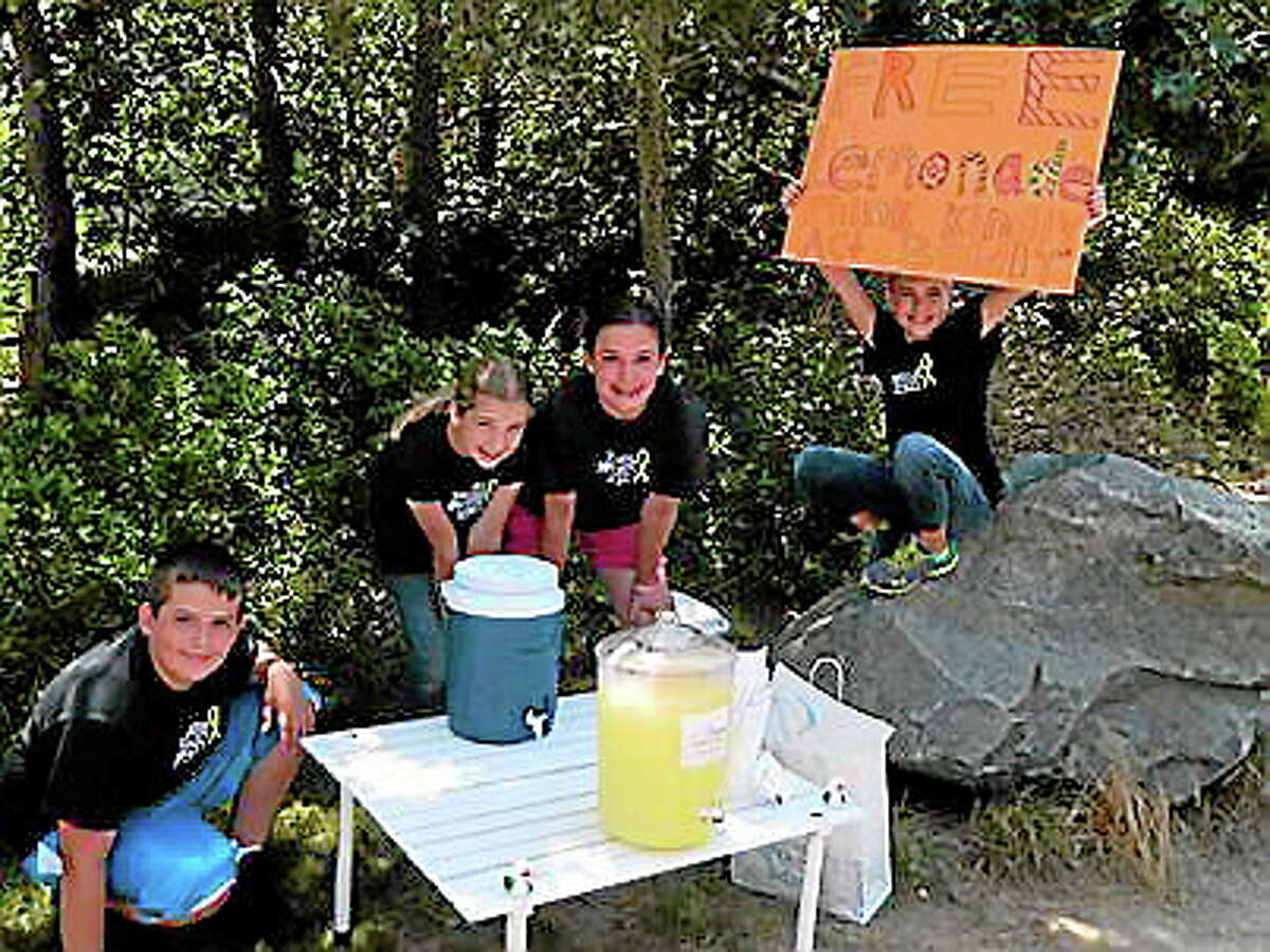 Newtown Kindness provided children with lemons, sugar and jugs so they could give away lemonade in their neighborhoods. (Contributed photo from Newtown Kindness)