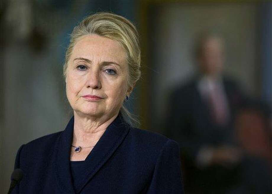 Secretary of State Hillary Rodham Clinton. Associated Press file photo Photo: ASSOCIATED PRESS / A2012