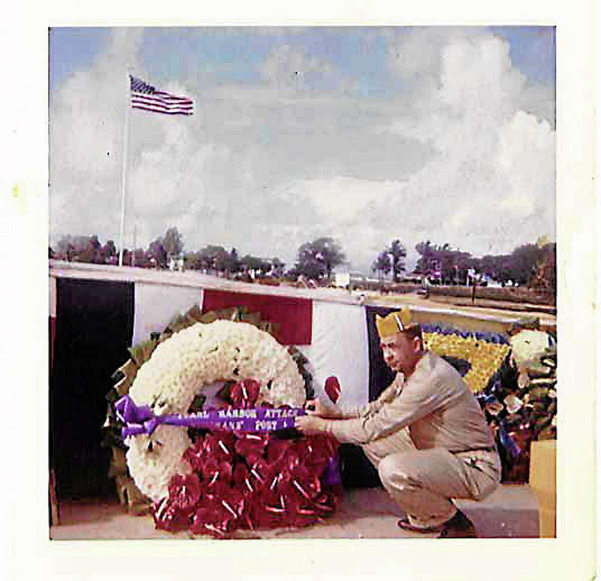 Joseph P. McDonald at the Arizona Memorial on Dec. 7, 1961.