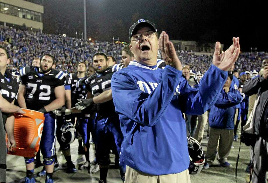 Duke coach David Cutcliffe has been named the 2013 Walter Camp Football Foundation Coach of the Year. Photo: Gerry Broome — The Associated Press   / AP