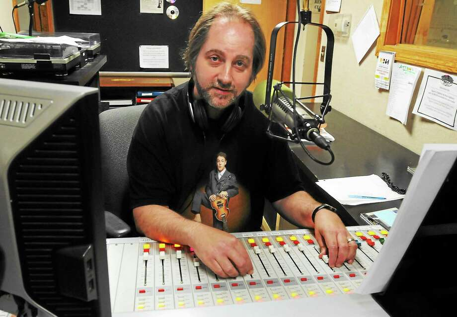 Mara Lavitt — Register August 14, 2013 West Haven. Ken Michaels of Milford hosts a WNHU radio show from Maxcy Hall called The Beatles: Every Little Thing. Photo: Journal Register Co.