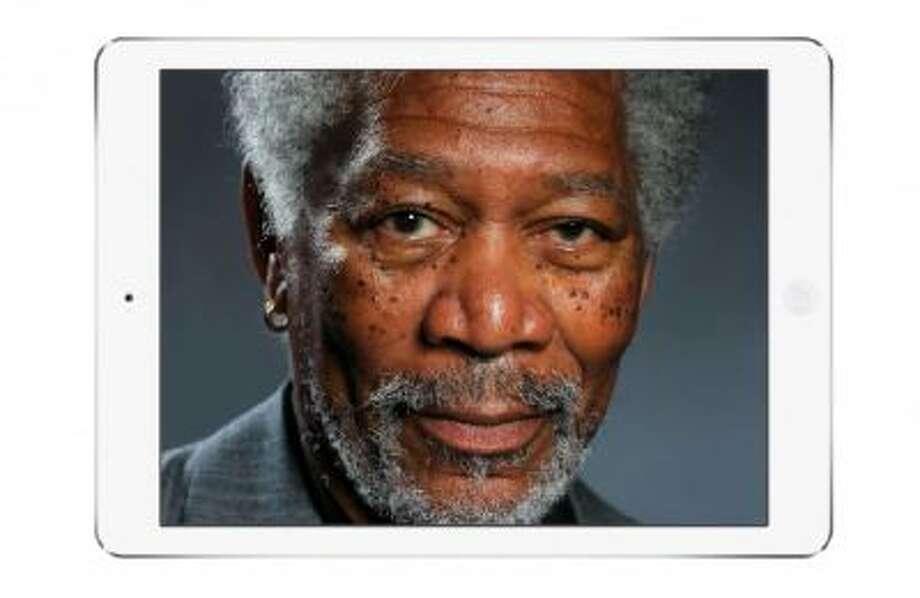 iPad artist Kyle Lambert's hyperrealistic portrait of Morgan Freeman