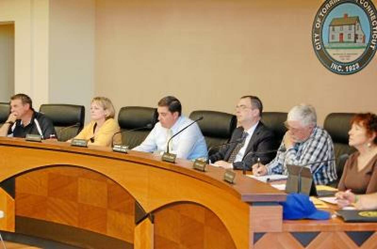 Kate Hartman/Register Citizen -- The Torrington City Council meets at City Hall on Monday, May 6.