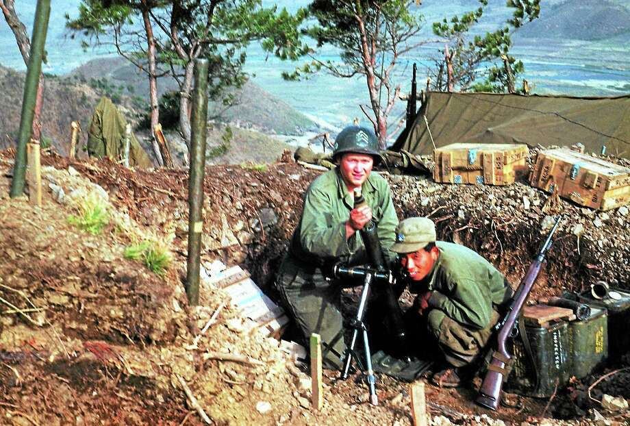 Richard Donahu with a South Korean solider. Register/Contributed photo Photo: Journal Register Co.