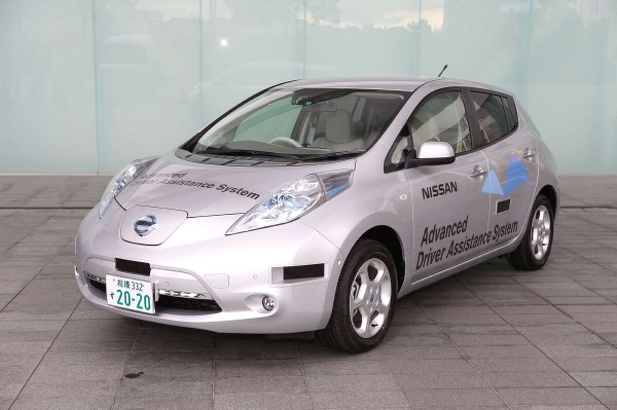 """Nissan's """"assisted"""" Leaf has been approved by Japanese authorities for circulation on the open road."""