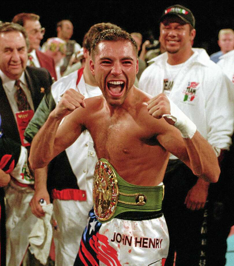 Oscar De La Hoya, Felix Trinidad and Joe Calzaghe head the class of 2014 to be inducted into the International Boxing Hall of Fame. Photo: Lennox McLendon — The Associated Press   / AP
