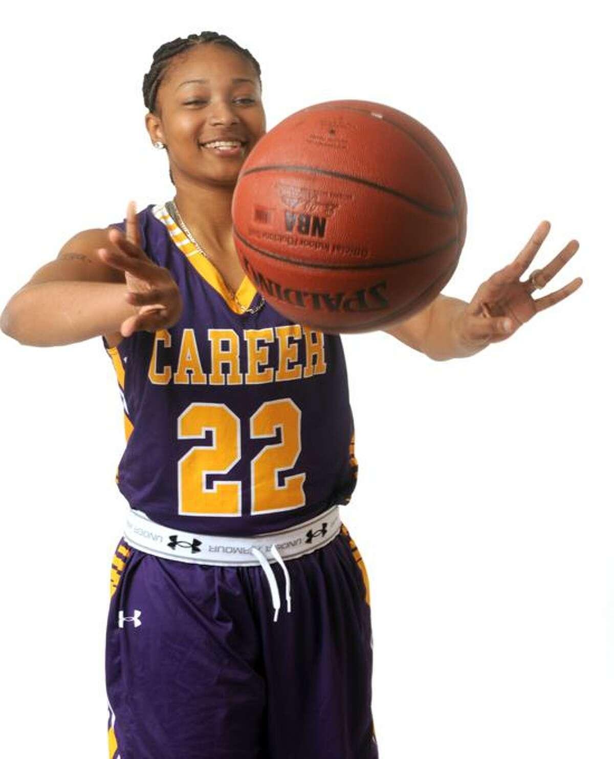 All Girls Basketball MVP: Tanaya Atkinson, Career. Photo by Peter Hvizdak/New Haven Register