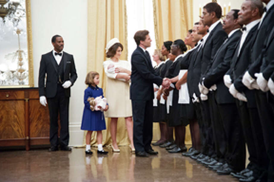 "This film image released by The Weinstein Company shows, from second left, Chloe Barach as Caroline Kennedy, Minka Kelly as Jackie Kennedy, James Marsden as President Kennedy and Forest Whitaker as Cecil Gaines, third from right, in a scene from ""Lee Daniels' The Butler."" (AP Photo/The Weinstein Company, Anne Marie Fox) Photo: AP / The Weinstein Company"