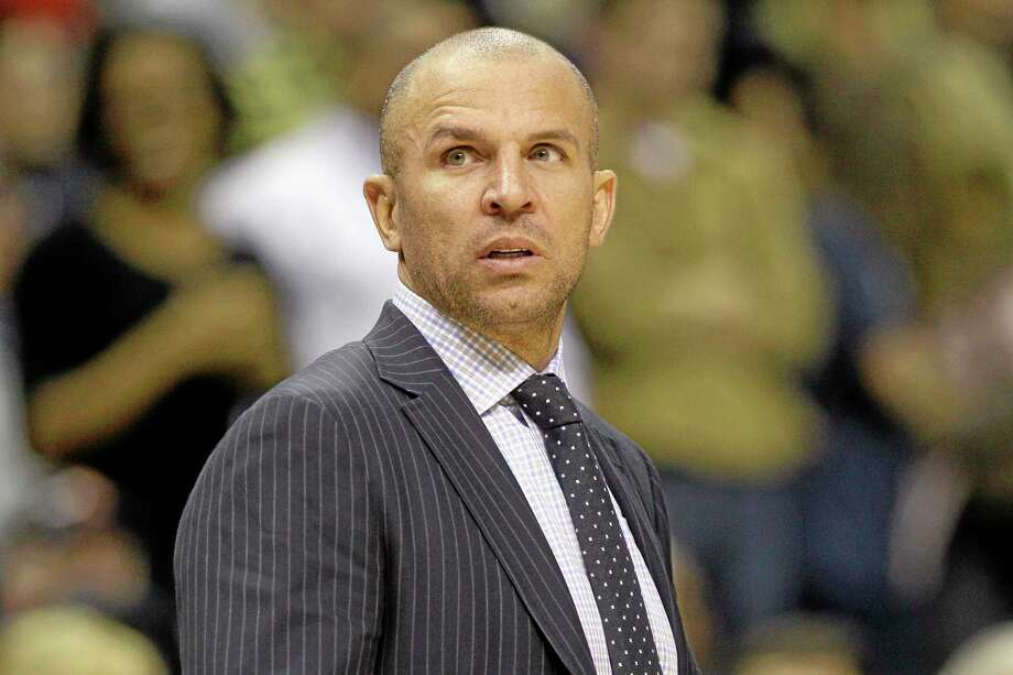 Brooklyn Nets coach Jason Kidd watches the second half of Saturday's game against the Grizzlies in Memphis, Tenn. On Tuesday, top assistant coach Lawrence Frank was reassigned to a non-bench role. Photo: Danny Johnston — The Associated Press   / AP