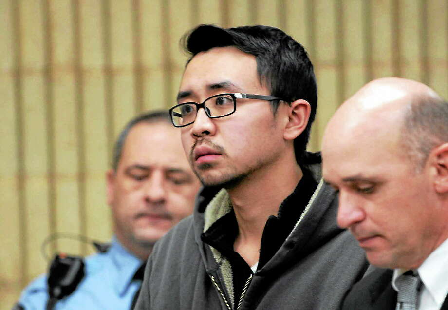 University of New Haven student William Dong appears during his arraingment Wednesday at Superior Court in Milford. Assistant public defender Kevin Williams is at right. Photo: ASSOCIATED PRESS   / POOL, The Connecticut Post