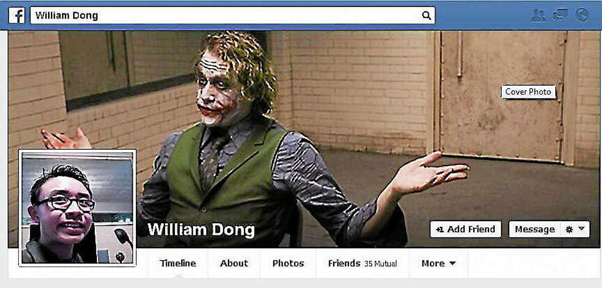 A screenshot of William Dong's Facebook page.