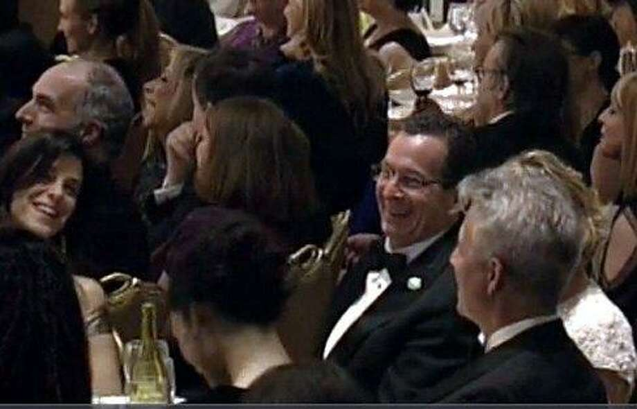 Gov. Dannell P. Malloy chuckles at the White House Correspondents' dinner.