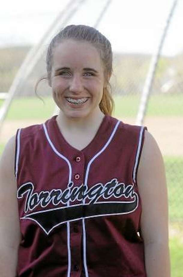 Torrington High School catcher Marissa Morris Photo by Laurie Gaboardi/Register Citizen
