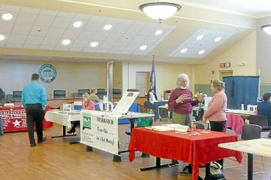 Kate Hartman/Register Citizen -- A health fair was held at Torrington City Hall for employees on Thursday, May 2.