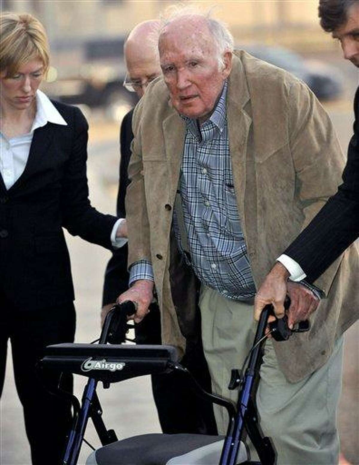 """Millionaire artist Stanley Marsh 3 is booked into the Potter County, Texas, Detention Center Stanley Marsh 3, an eccentric millionaire artist best known for his """"Cadillac Ranch"""" art display along an interstate in the Texas Panhandle, has settled lawsuits from 10 teenagers who allege he paid them for sex acts, attorneys announced Saturday, Feb. 16, 2013. AP Photo/Amarillo Globe-News, Michael Schumacher"""