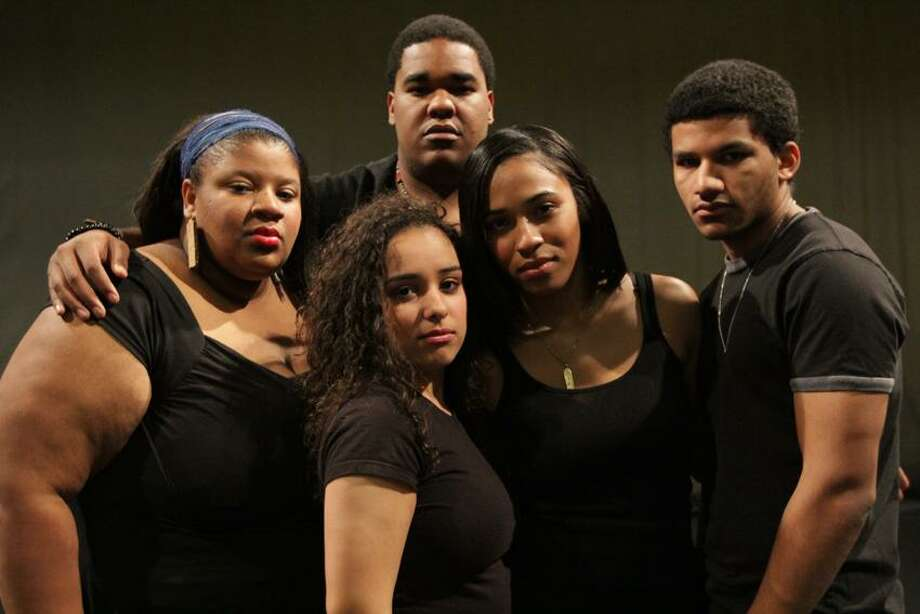 Contributed photo: The First Wave Hip Hop Touring Theater Ensemble, Cydney Edwards, left, Janel Herrera, Andrew Thomas, Thiahera Nurse and Christian Robinson are the elite performers of the University of Wisconsin-Madison's dynamic Urban Arts Learning Community.