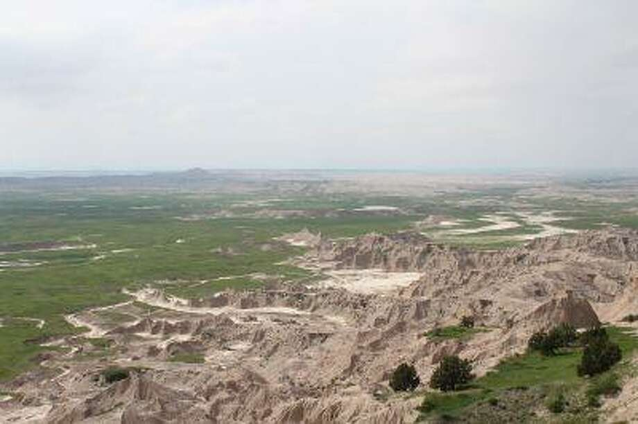The South Unit of Badlands National Park, shown here, is ideal terrain for buffalo.