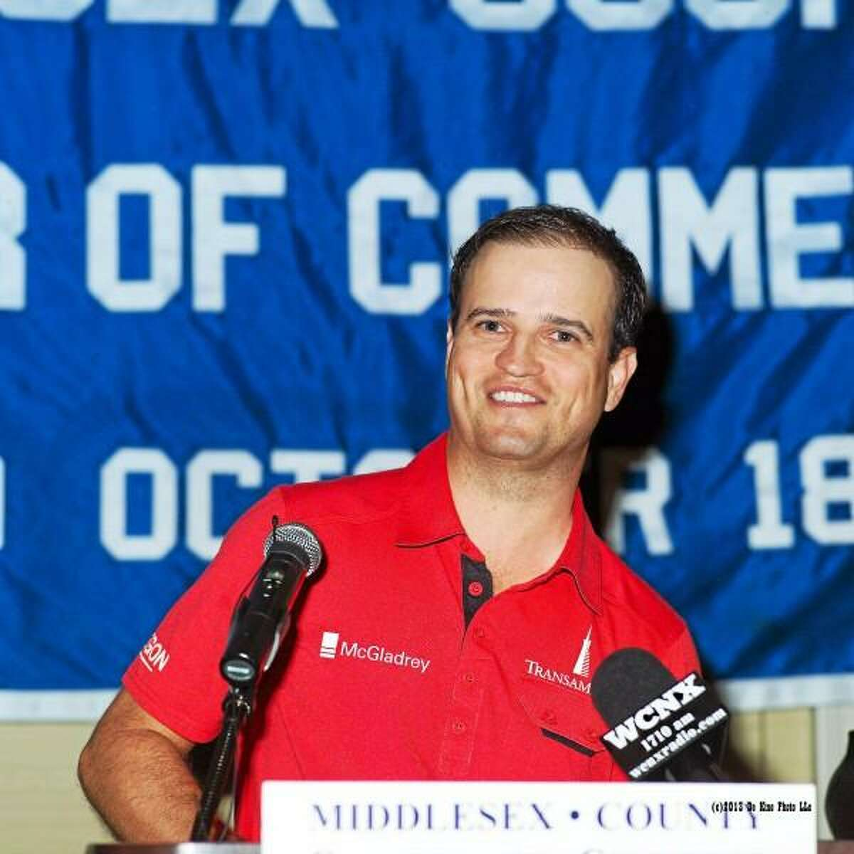 Tour Professional Zach Johnson (Keynote Speaker) at the Middlesex Chamber's annual Travelers Championship Member Breakfast Meeting June 18.(Photo by De Kine Photo LLC)