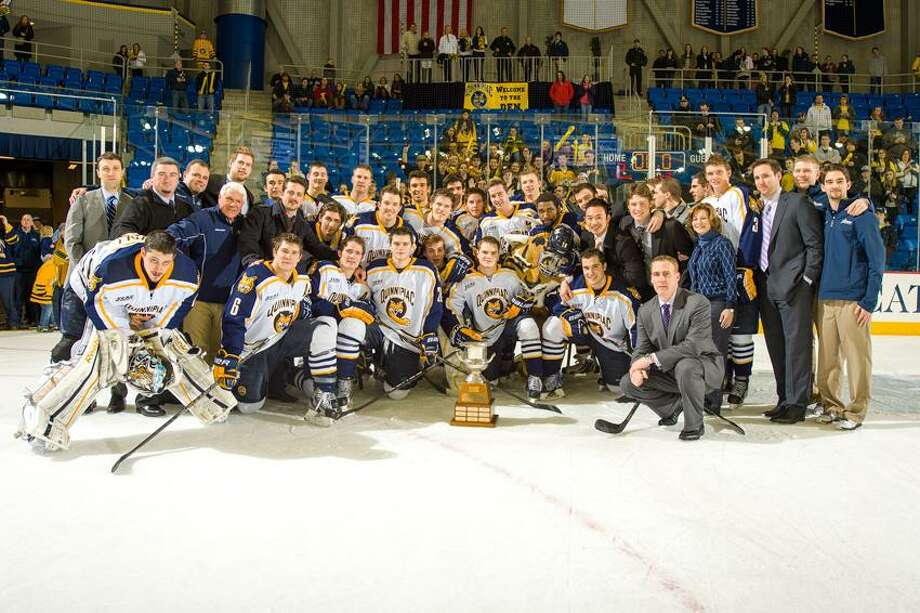Regular Season Champion Quinnipiac men's hockey team (Photo courtesy of Quinnipiac) / Copyright John Hassett 2013. All rights reserved