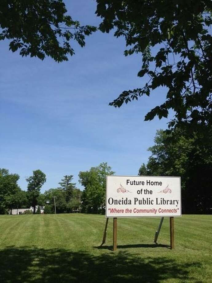 JOHN HAEGER @ONEIDAPHOTO ON TWITTER/ONEIDA DAILY DISPATCH The future site of the Oneida Public Library on Friday, June 21v 2013.