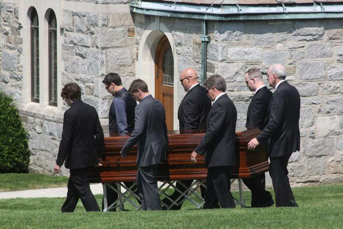 A funeral for Eric Langlois was held Monday at Chapel of Our Lady at Canterbury School. Walter Kidd/Litchfield County Times