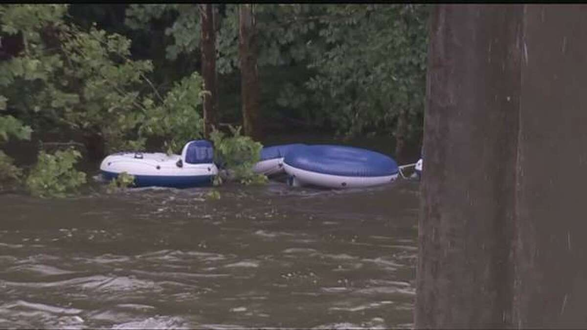 Police searched for an East Hartford man who disappeared in the Farmington River in a tubing accident, June 18, 2013. WTNH News 8 photo.