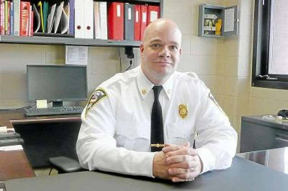 Kate Hartman/Register Citizen Chris Pepler was promoted to Deputy Fire Chief in the beginning of February.
