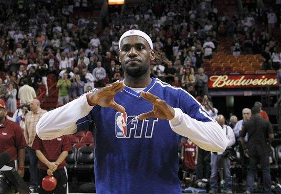Miami Heat forward LeBron James. (AP Photo/Wilfredo Lee) Photo: AP / AP