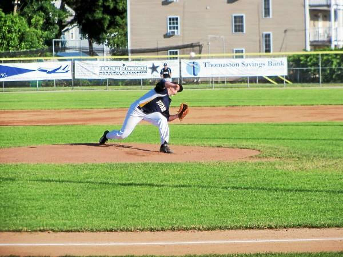 Titan starter Spencer Thomas went 4 2/3 innings Sunday, holding a 7-4 lead when he left in the top of the fifth inning. Peter Wallace-Register Citizen