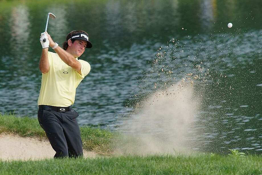 """Peter Casolino -- June 22, 2013-  Bubba Watson on the 17th hole. <a href=""""mailto:pcasolino@newhavenregister.com"""">pcasolino@newhavenregister.com</a>"""