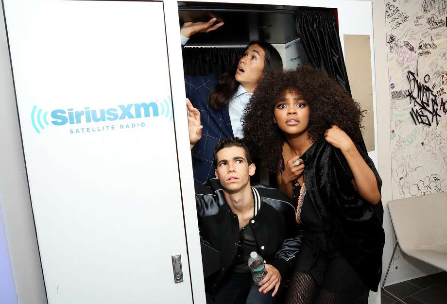 Actors China Anne McClain, Cameron Boyce and Booboo Stewart visit the SiriusXM Studios in New York City on July 18, 2017. Photo: Monica Schipper/Getty Images