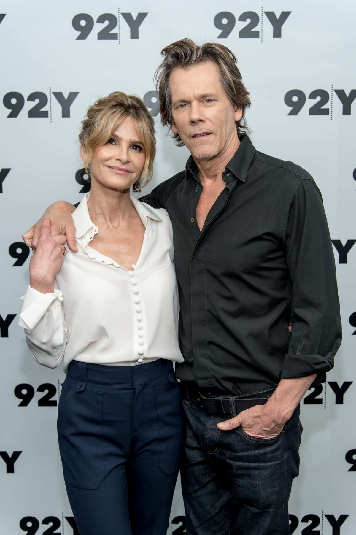 NEW YORK, NY - JULY 19: Actors Kyra Sedgwick and Kevin Bacon in Conversation at 92nd Street Y on July 19, 2017 in New York City. (Photo by Mark Sagliocco/FilmMagic)